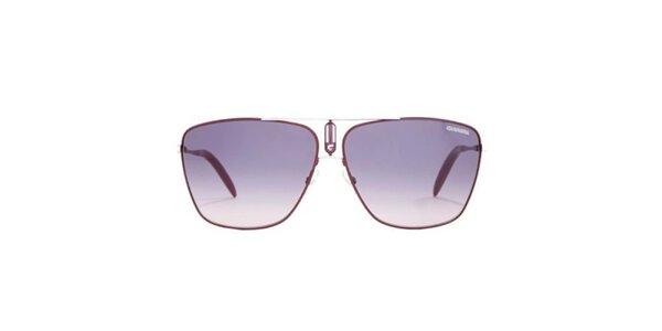 Vínové sluneční brýle s tenkými obroučkami Carrera