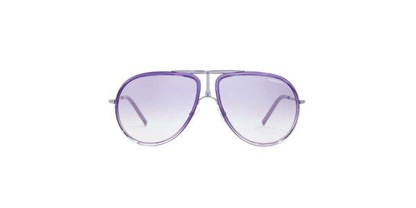 Fialové sluneční brýle s tenkými stranicemi Carrera