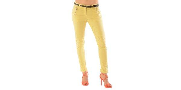 Dámské žluté kalhoty Silvana Cirri