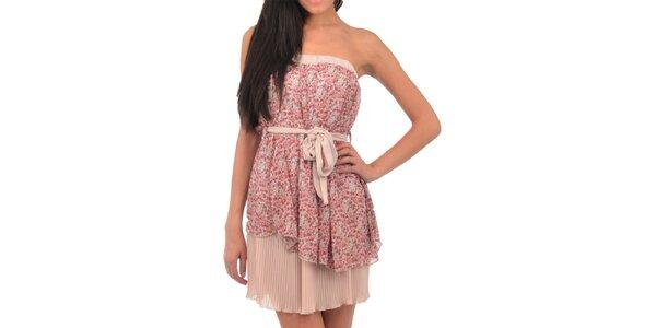 Dámské růžové hedvábné šaty Silvana Cirri