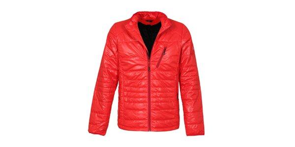 Pánská červená prošívaná bunda Bergson