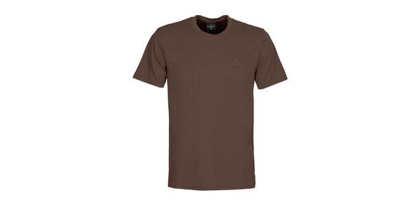Pánské hnědé tričko Bergson