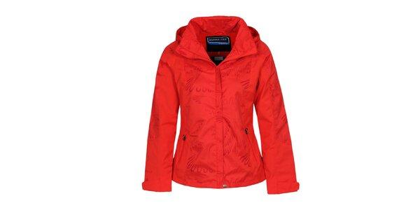 Dámská červená bunda s potiskem Bergson