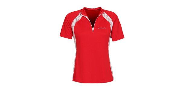 Dámské rudé cyklistické tričko se zipem Bergson