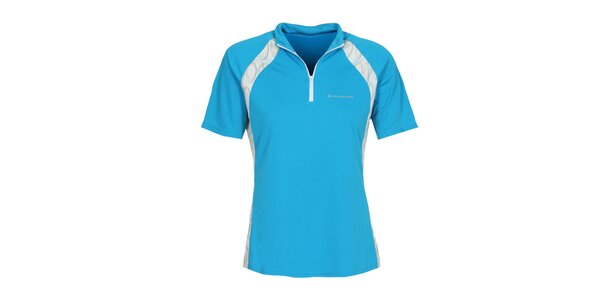Dámské modré cyklistické tričko se zipem Bergson