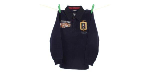Dětské tmavě modré polo tričko Aeronautica Militare