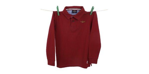 Dětské červené polo tričko Aeronautica Militare