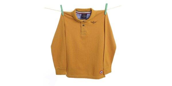 Dětské žluté polo tričko Aeronautica Militare