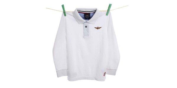 Dětské bílé polo tričko Aeronautica Militare