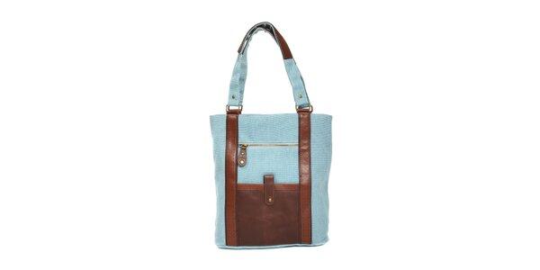 Textilní kabelka značky Siva v barvě džínoviny