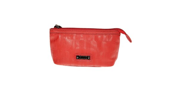 Dámská malá červená kosmetická taštička Elle