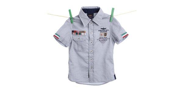 Dětská světle modrá košile Aeronautica Militare