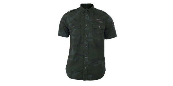 Pánská maskáčová košile s krátkým rukávem Aeronautica Militare
