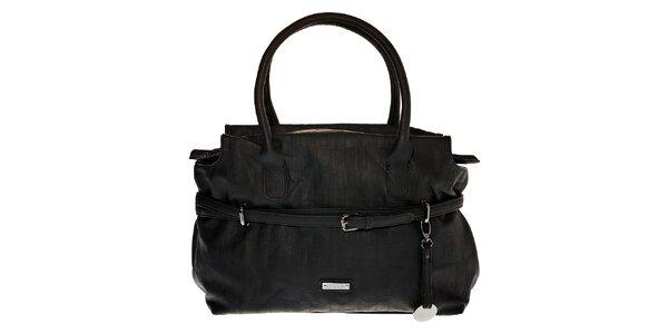 Dámská černá kabelka Elle s páskem