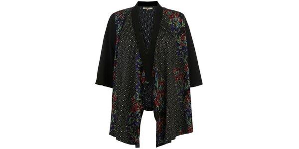 Dámské černé vzorované kimono Uttam Boutique