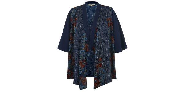 Dámské modré vzorované kimono Uttam Boutique