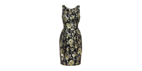 Dámské černo-zlaté šaty Uttam Boutique
