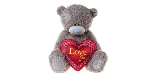 MTY medvídek 35cm s velkým srdcem