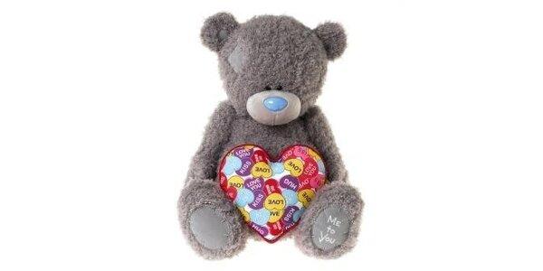 MTY medvídek 44cm se srdcem