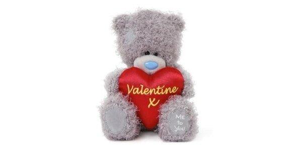 MTY medvídek 14,5cm Valentýn
