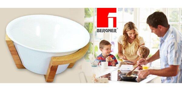 Servírovací mísa Bergner v dřevěném stojanu