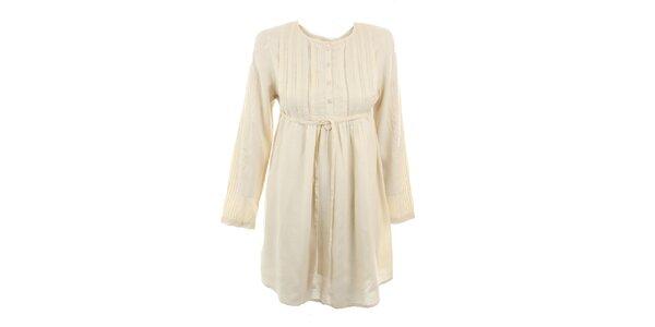 Dámské béžové viskózové šaty Tantra