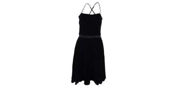 Dámské černé koktejlové šaty Pietro Filipi