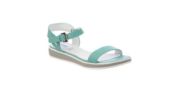 Dámské mentolové sandály s koženou stélkou Keddo