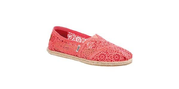 Dámské krajkované korálové botky Keddo