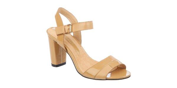 Dámské béžové sandálky Elisabeth s podpatkem