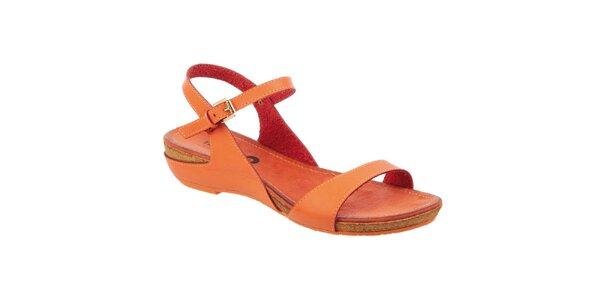 Dámské oranžové sandály Betsy
