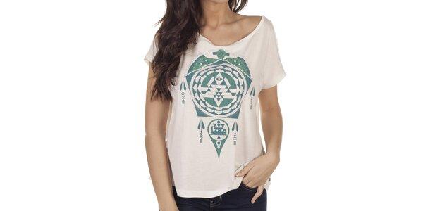 Dámské tričko se zeleným potiskem Lois