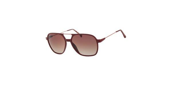 Dámské tmavě červené sluneční brýle Calvin Klein Jeans s kovovými detaily a…