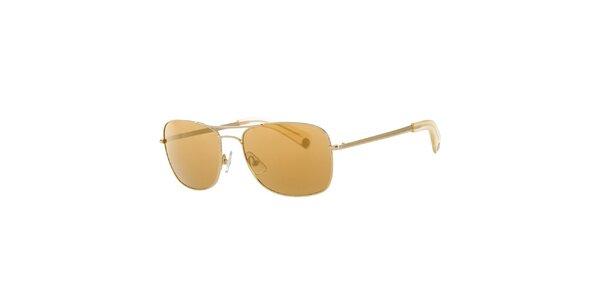 Pánské hořčicové sluneční brýle Calvin Klein