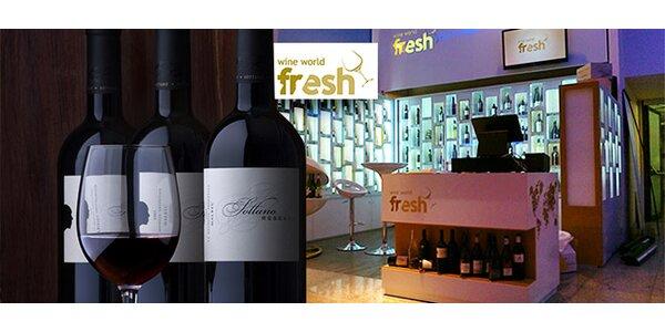 Otevřený voucher na nákup vína (500 Kč a 1000 Kč)