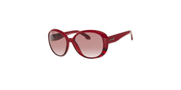 Dámské červené sluneční brýle s žíháním Calvin Klein