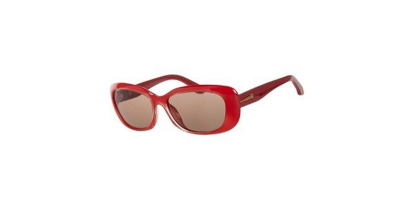 Dámské rudé sluneční brýle Calvin Klein