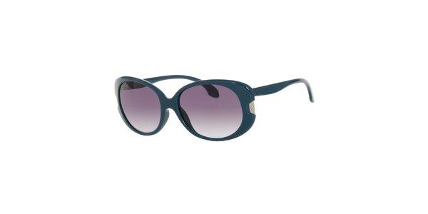 Dámské tmavě tyrkysové oválné sluneční brýle Calvin Klein