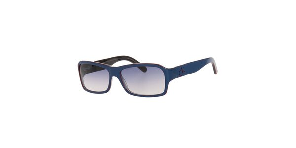 Dámské modré sluneční brýle s modrými skly Calvin Klein