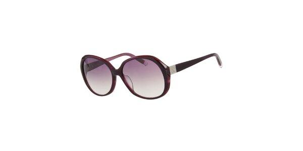 Dámské fialové kulaté sluneční brýle Calvin Klein