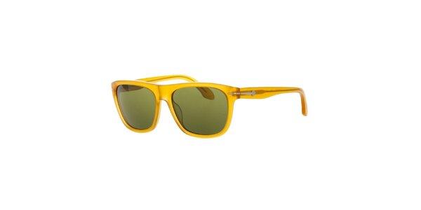 Pánské žluté retro sluneční brýle Calvin Klein
