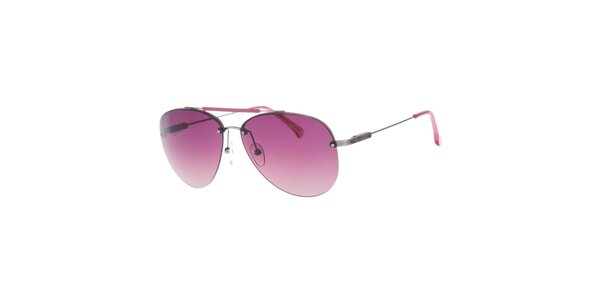 Dámské pilotky s růžovými skly Calvin Klein Jeans