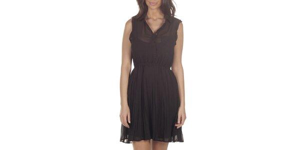 Dámské černé transparentní šaty bez rukávů Lois