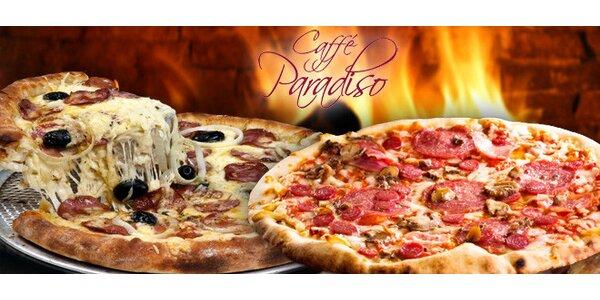 Dvě libovolné pizzy v centru Budějovic