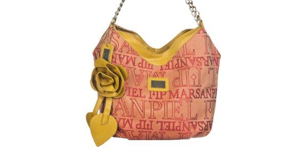 Dámská potištěná kabelka s dekorativní růží Marsanpiel