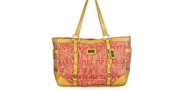 Dámská kabelka se žlutými pásky Marsanpiel