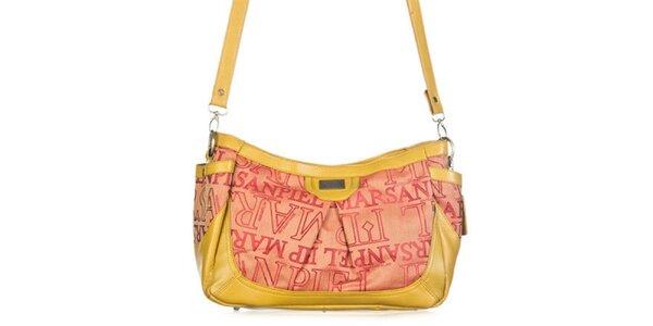 Dámská žlutá kabelka s potiskem Marsanpiel