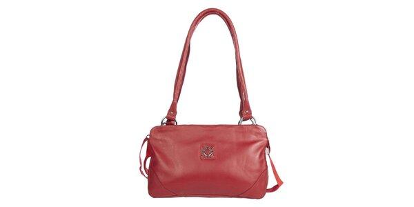 Dámská podlouhlá červená kabelka Marsanpiel