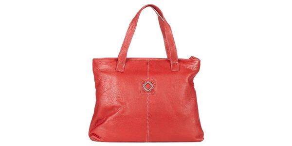 Dámská červená kabelka z kůže Marsanpiel