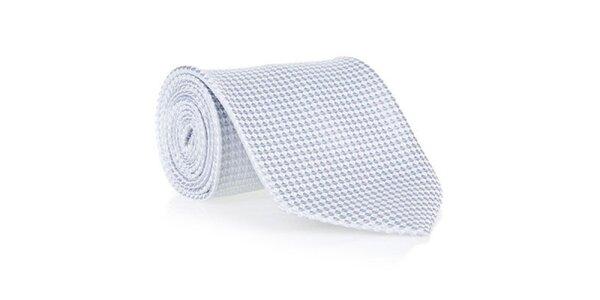 Pánská šedá kravata s jemným vzorkem Marsanpiel
